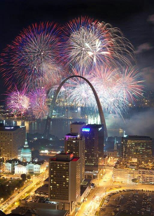 360 Fireworks Party Downtown Stl
